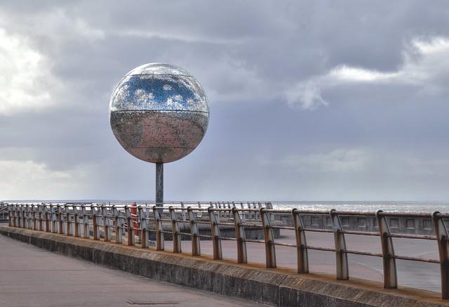 Huge disco ball at Blackpool