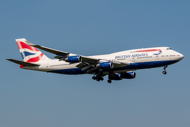 British Airways Boeing 747-400 G-BNLN