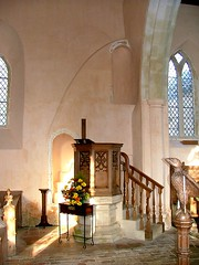 pulpit and blocked arcade