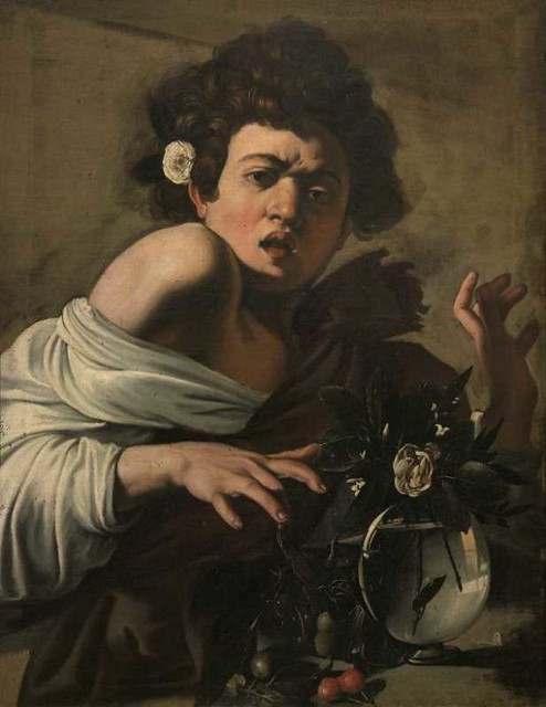 boy-bitten-by-lizard-carravaggio in longhi collection