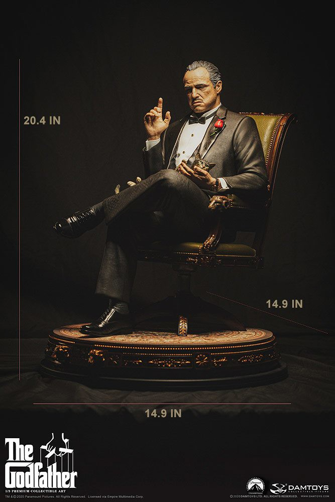 Damtoys《教父》維托·柯里昂 1/3比例全身雕像!傳奇黑幫老大不怒自威身影再現