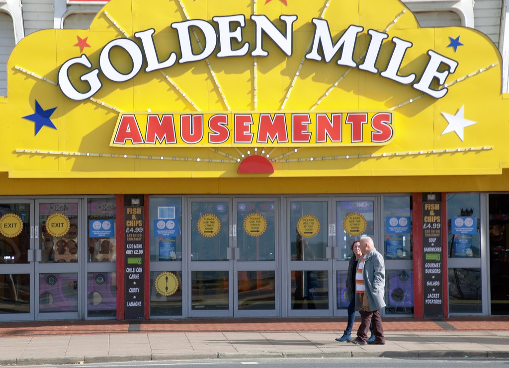 Couple on the Golden Mile at Blackpool