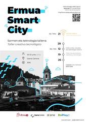 Cartel del taller tecnológico Ermua Smart City.