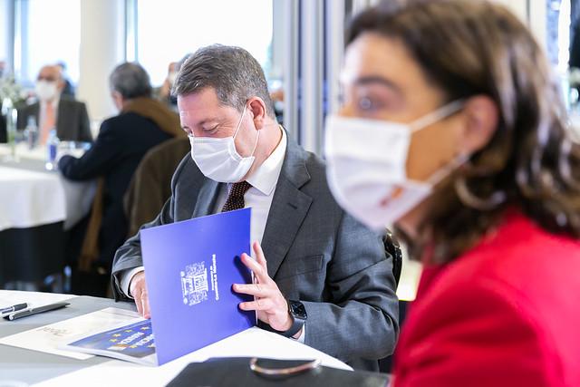 """Inauguración del encuentro empresarial """"Hacia una recuperación económica en España y en Europa"""" en Ciudad Real"""