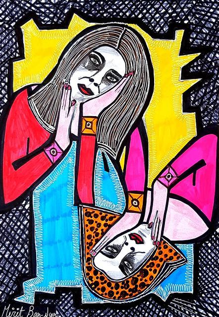 פנטזיה דיוקן בהזמנה אישית אמנות ישראלית מירית בן נון ציירת עכשווית מודרנית