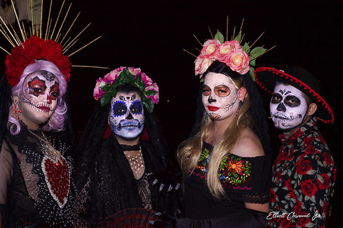 Halloween West Hollywood 2019 Day of the Dead - Dia de los Muertos costumes | by Elliott Cowand