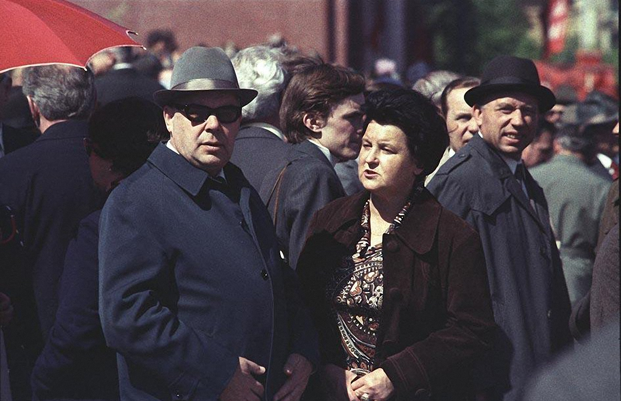 1970-е. На Красной площади после парада (2)