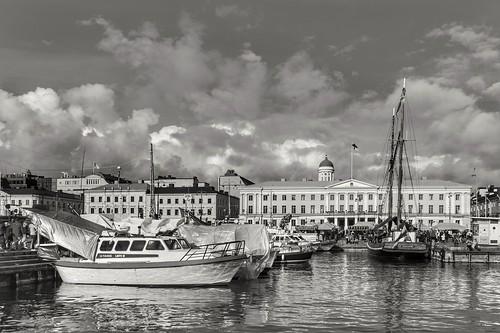 market helsinki finland travel history architecture water sea boat blackandwhite monochrome town streetview street city cityscape