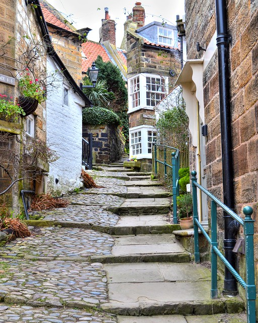 Side street at Robin Hood's Bay in Yorkshire
