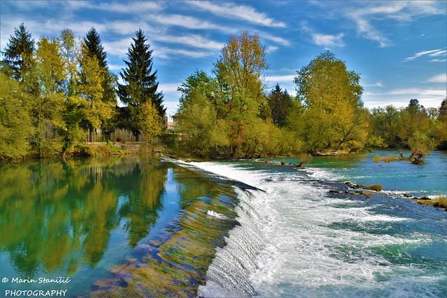 Mrzlo Polje, Karlovac, Croatia - Autumn colors&waterfall on river Mrežnica...