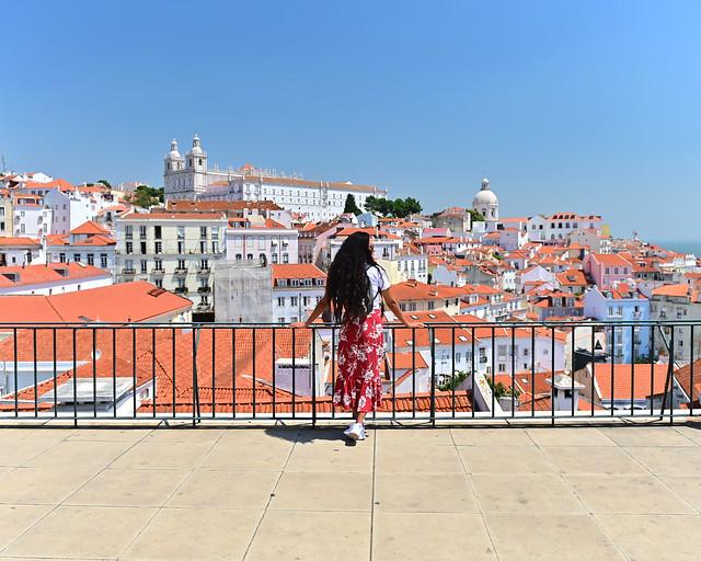 Mirador de las Portas do Sol en Lisboa