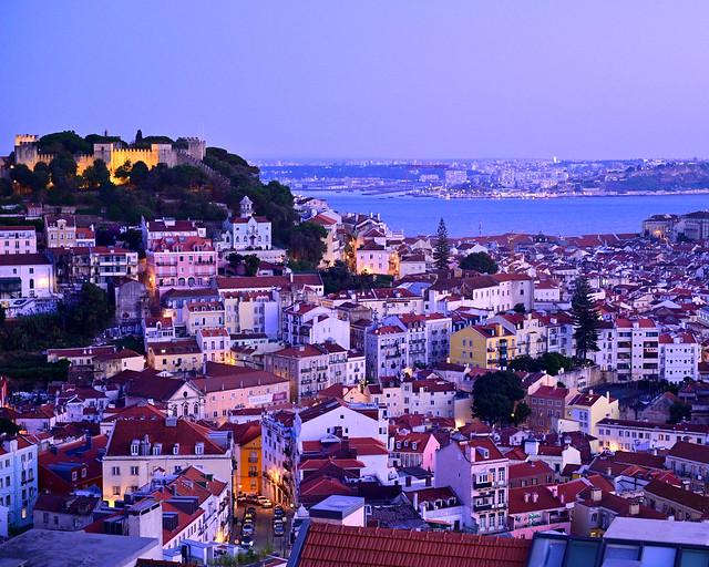 Vistas de Lisboa desde el mirador de la Senhora do Monte