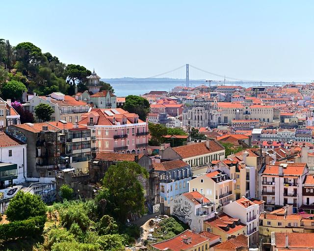 Vistas desde el Mirador de Gracia en Lisboa
