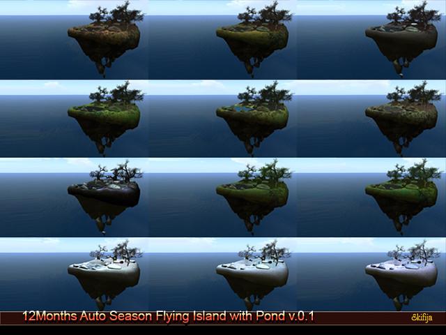 !Skifija 12Months Auto Season Flying Island with Pond