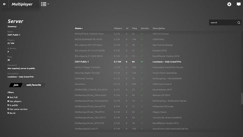 rFactor 2 new UI