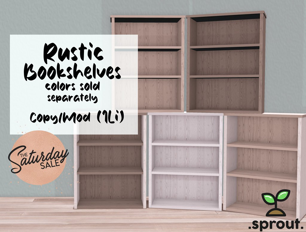 .sprout. rustic bookshelves