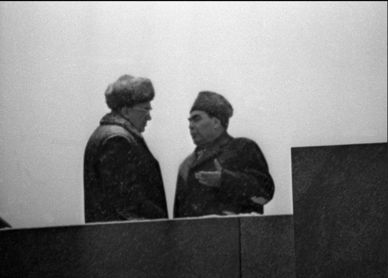 1970-е. Леонид Брежнев и Юрий Андропов