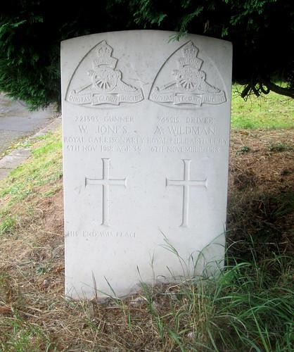 War Graves, Overleigh Cemetery, Chester