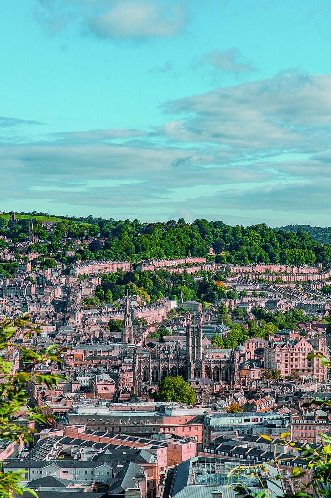 The Bath city skyline.