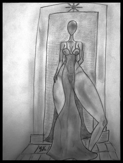 """8. """"Duchess of Helios"""" ink, pencil & charcoal  drawing art by #JS16 Jacob Sibbern"""