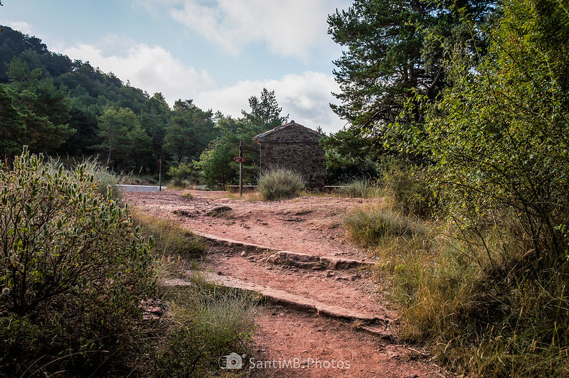Coll de Sant Roc en el Camí Natural Muntanyes de Prades
