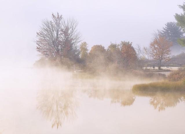 New Hampshire morning mist...