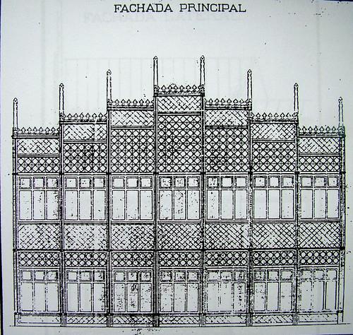 Diseño del edificio provisional de la escuela de Artes de Toledo por Arturo Mélida