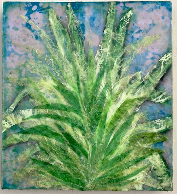 Botanical Encaustic Painting
