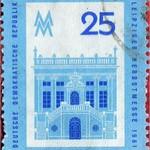 Sat, 2020-10-31 00:25 - Postage stamp - Leipzig Autumn Fair 1961 - Alte Börse - building on Naschmarkt in Leipzig, trade fair sign - issue value: 25 Pfennig (GDR 1961); Timbre-poste - Foire d'automne de Leipzig 1961 - Alte Börse - bâtiment sur Naschmarkt à Leipzig, enseigne de foire - Valeur d'émission: 25 Pfennig (RDA 1961)