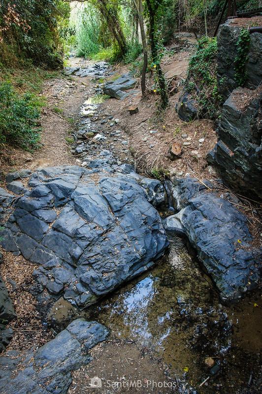 Riera de La Selva desde la pasarela del Camí del Rec