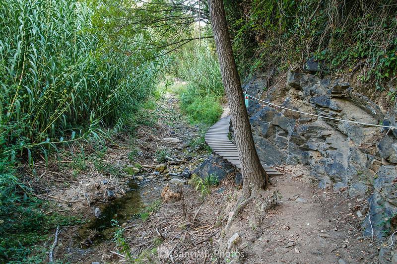 Pasarela del Camí del Rec sobre la riera de La Selva