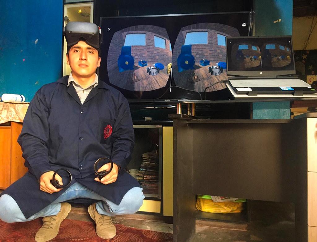 Becario desarrolló laboratorio virtual