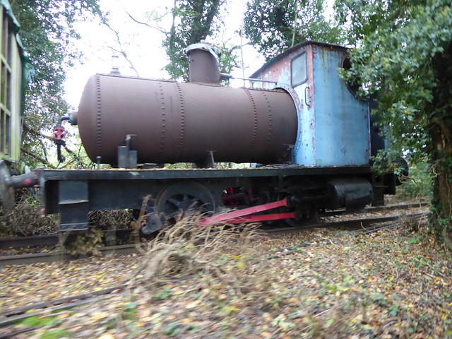 The remains of fireless loco Bluebottle
