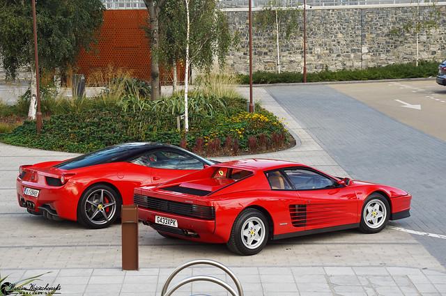 Ferrari Testarossa & Ferrari 458 Italia