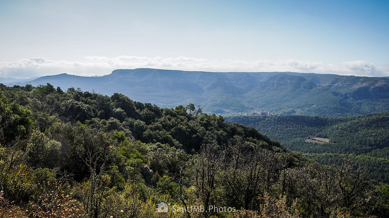 Vistas de Capafonts y Mont-ral desde la Roca dels Corbs