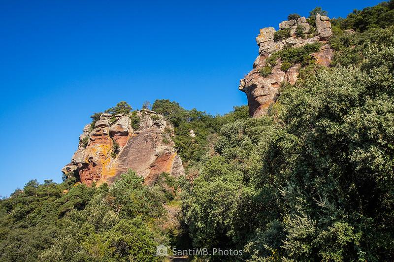 Conjuntos rocosos de la Roca dels Corbs de Prades