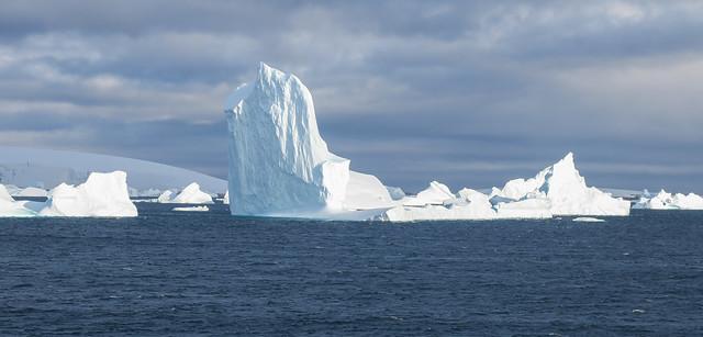 Brilliantly Lit Icebergs
