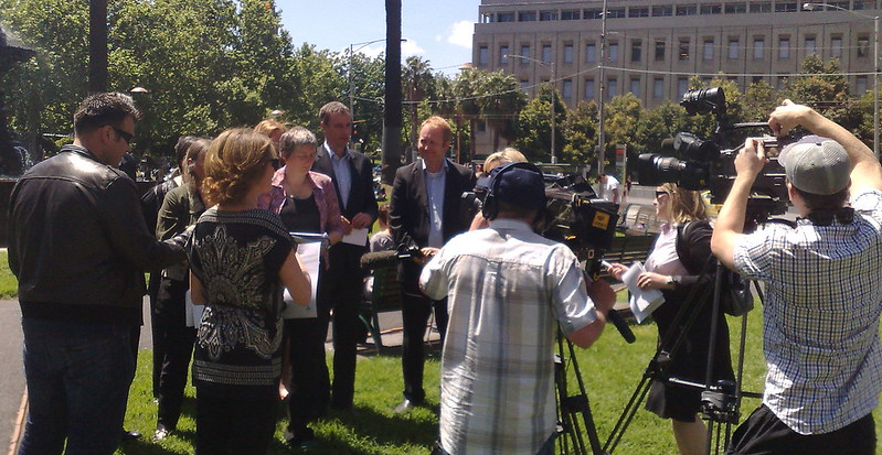Victorian Greens announce their plan for public transport for the 2010 election, October 2010