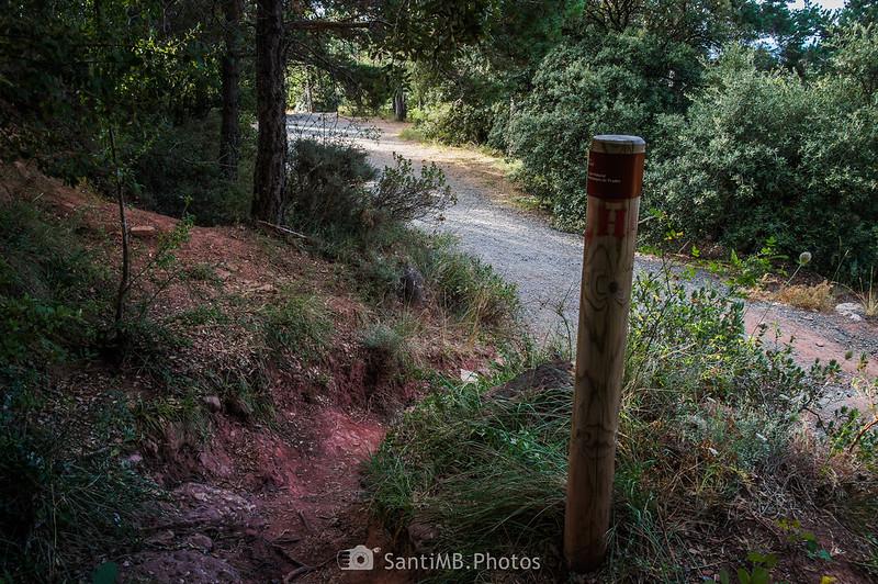 Camí Natural Muntanyes de Prades llegando a l'Abellera