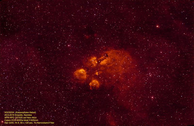 NGC6334 Katzenpfoten-Nebel, Kiripotib