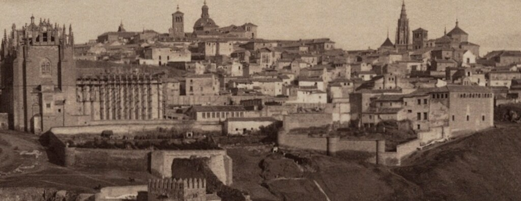 Vista de Toledo desde el oeste por Casiano Alguacil hacia 1885 (detalle)