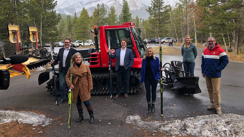 Partnering with Nordiq Alberta to groom ski trails