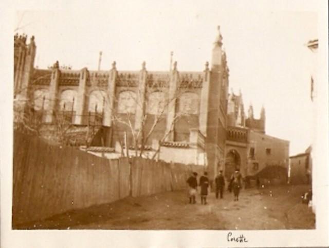Escuela de Artes el 20 de enero de 1921, fotografía de Mr. Tedford