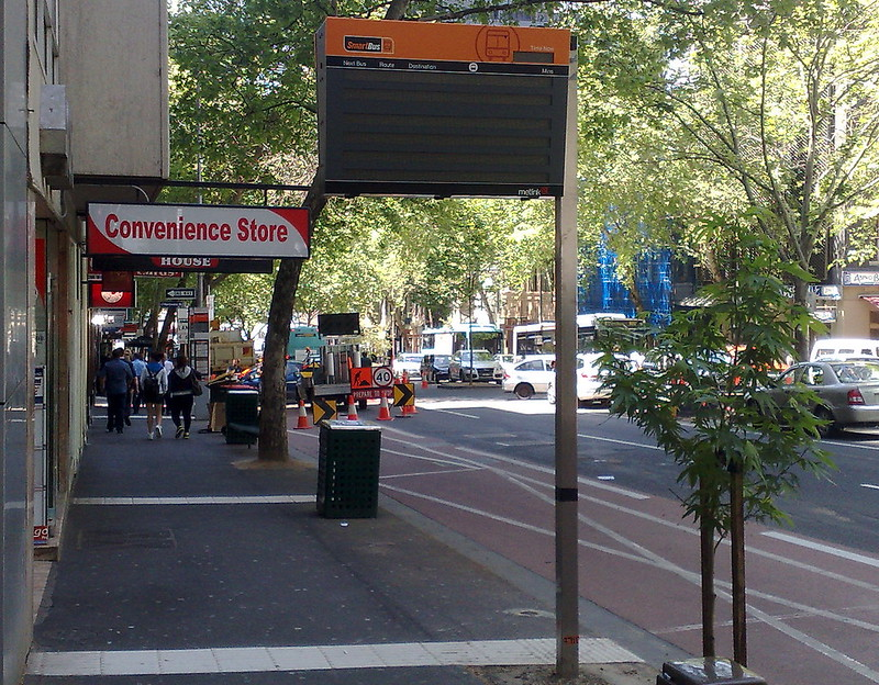 New Smartbus signage on Lonsdale Street, October 2010