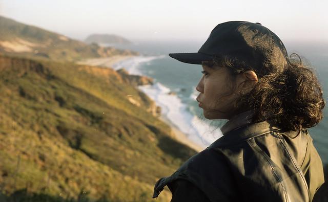 kissing the California coast