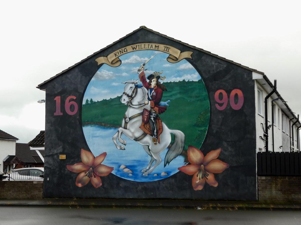 King William III Mural, Belfast Peace Walls