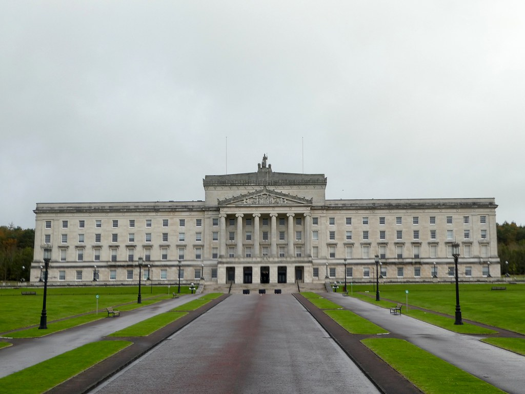 The Stormont parliament building, Belfast
