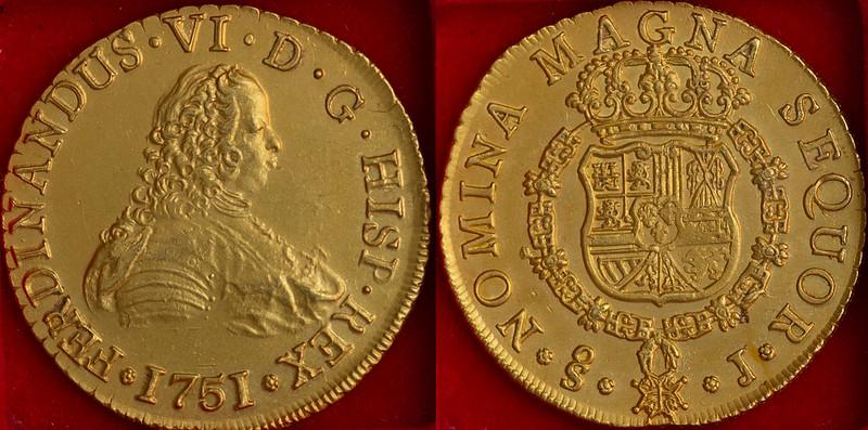 8 Escudos. Santiago 1751. Fernando VI 50549983518_fca0510ee8_c