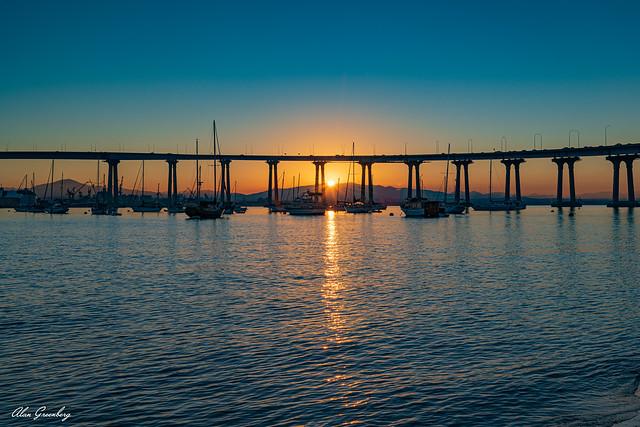 Sunrise under the Coronado Bay Bridge