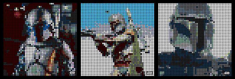 The Mandalorians LEGO ART